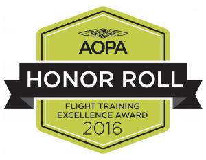 flight school, award, aopa