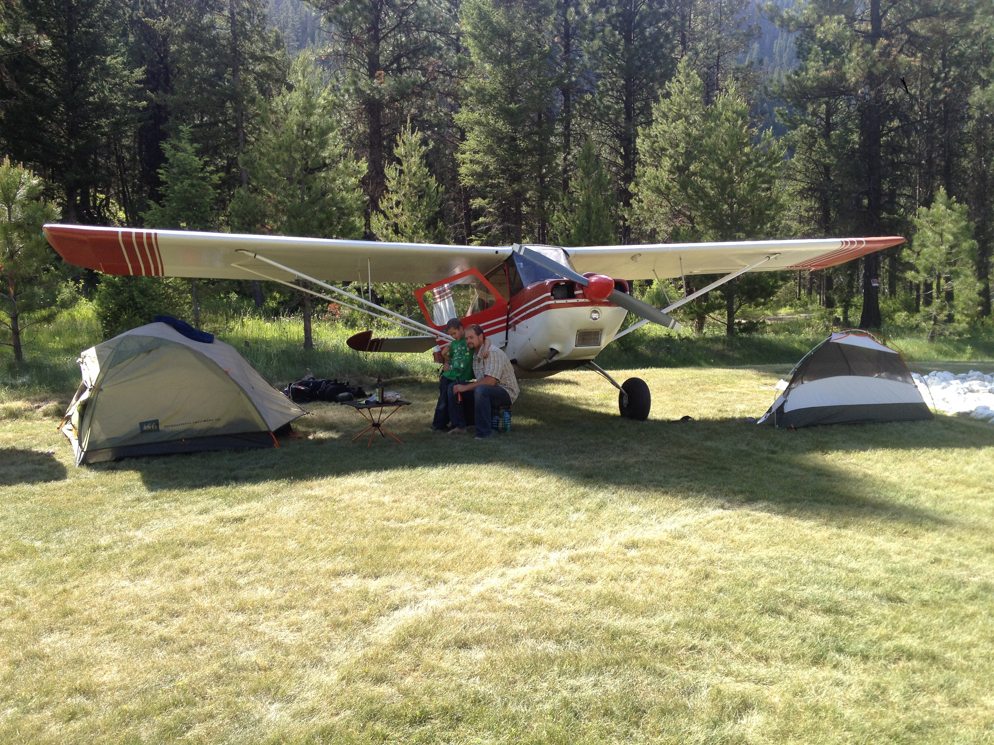Airplane camping in Idaho