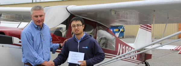 New Private Pilot – Shenghao Huang