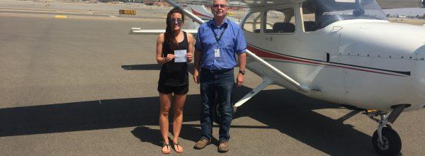New Private Pilot – Kate Born