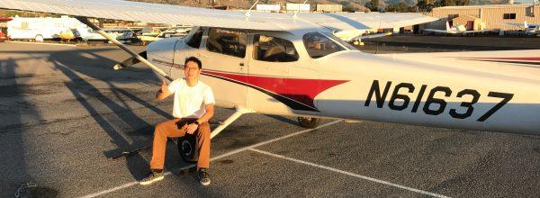 First Solo Flight – Chuang Wang