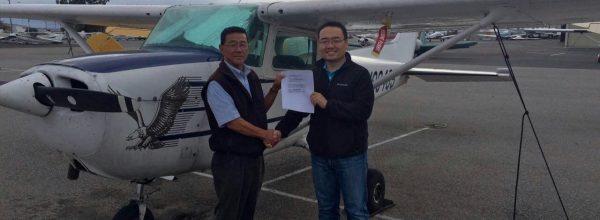 New Private Pilot – Dustin Liu