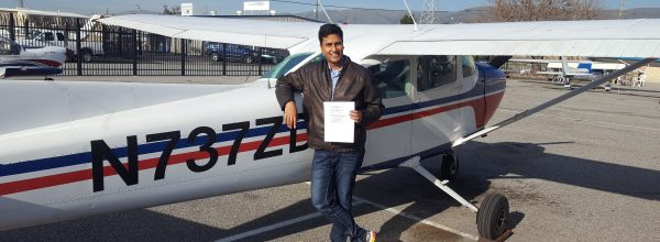 New Private Pilot – Harsh Parandekar