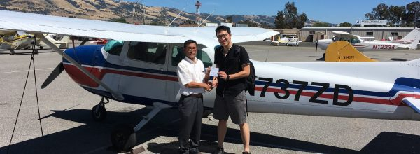 New Private Pilot – Chuang Wang