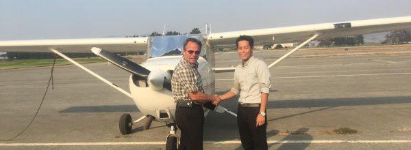 New Private Pilot – Joonwoo Cho
