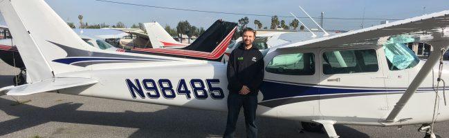 solo, flight training, N98485