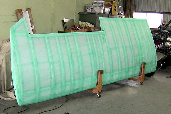 Wing after first nitrate coat