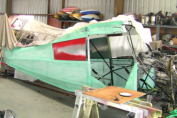 Fuselage after first nitrate coat