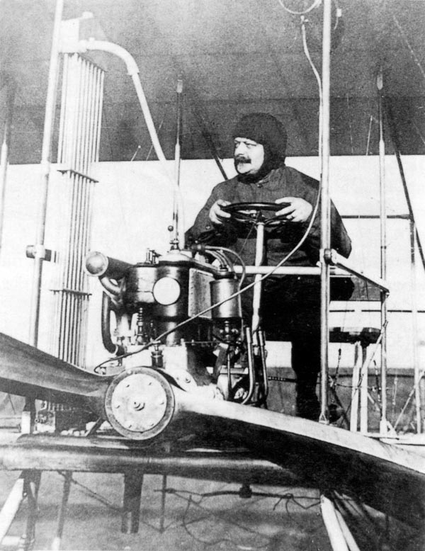 Penkala in his plane