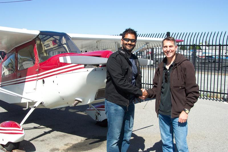 Zia Syed soloes a Citabria at AeroDynamic Aviation