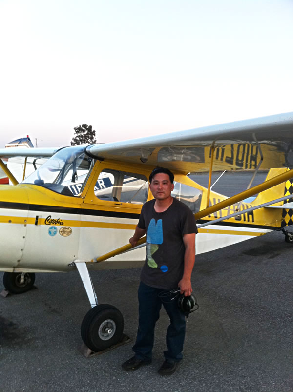 Jimmy Shih soloes a Citabria at AeroDynamic Aviation