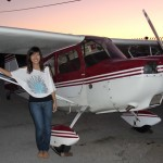 Inga flies a Citabria at AeroDynamic Aviation flight training school San Jose San Francisco Bay Area California