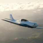 Andy's beautiful Lancair Legacy in flight