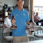 Andy shows off Bronze Lindy at EAA Chapter 62 meet in AeroDynamic Aviation hangar