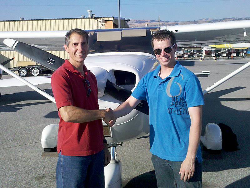 Jim Soloes Cessna 172 at AeroDynamic Aviation flight training school San Jose San Francisco Bay Area California