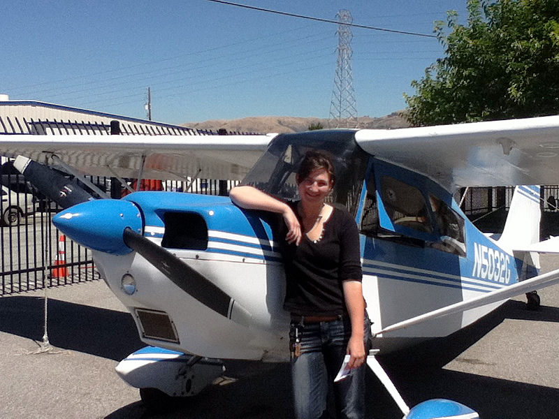 Laura earns private pilot license in a taildragger