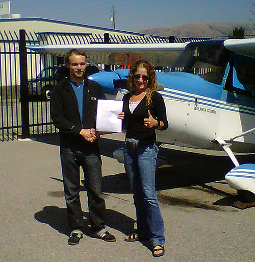 Anton Likhtarov earns Private Pilot certificate in Citabria Taildragger