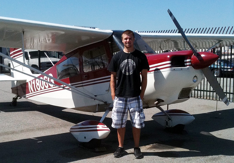 Justin Hand earns Private Pilot license