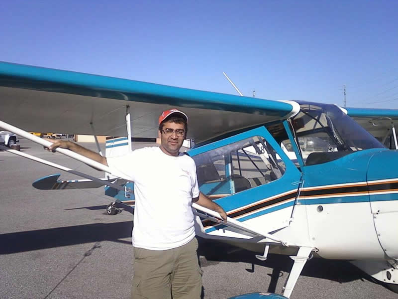 Hrishi soloes Citabria after flying lessons at AeroDynamic Aviation flight training school San Jose San Francisco Bay Area California