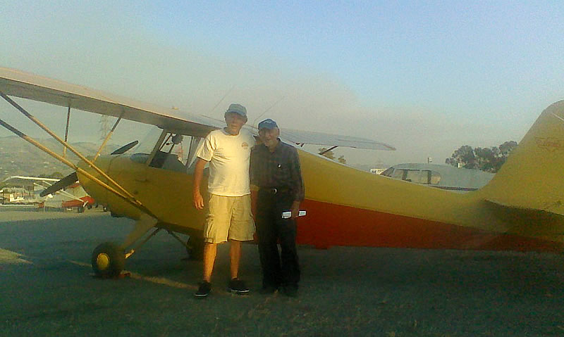 Mike Lancon passes sport pilot flight test