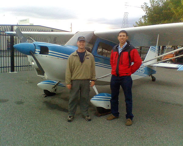 Lee Barker earns tailwheel endorsement after flying lessons at AeroDynamic Aviation flight training school San Jose San Francisco Bay Area California