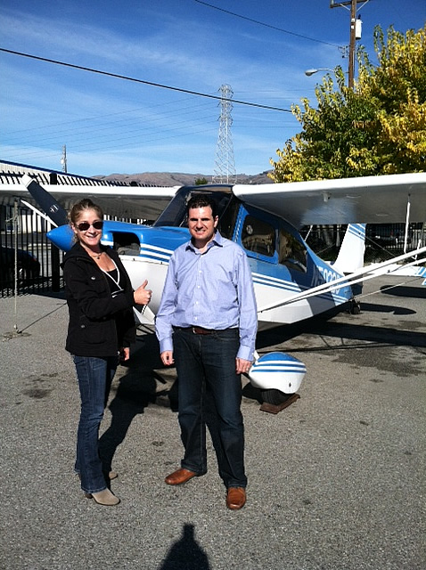 Stephane earns Private Pilot certificate after flying lessons at AeroDynamic Aviation flight training school San Jose San Francisco Bay Area California