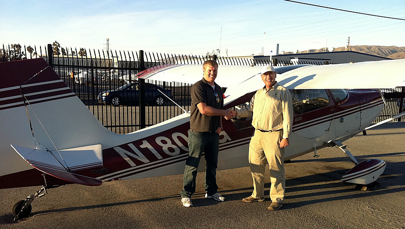 Ben Ellsworth earns tailwheel endorsement at AeroDynamic Aviation Flight training school, Salinas, San Jose, San Francisco Bay Area, California