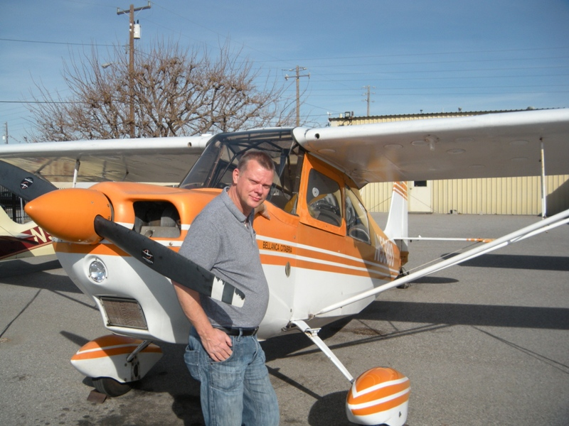 Eddie Seymour earns tailwheel endorsement in Citabria N53893 from AeroDynamic Aviation at Reid Hillview Airport in San Jose, CA.