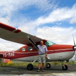 Enrique checks out in a Cessna 206