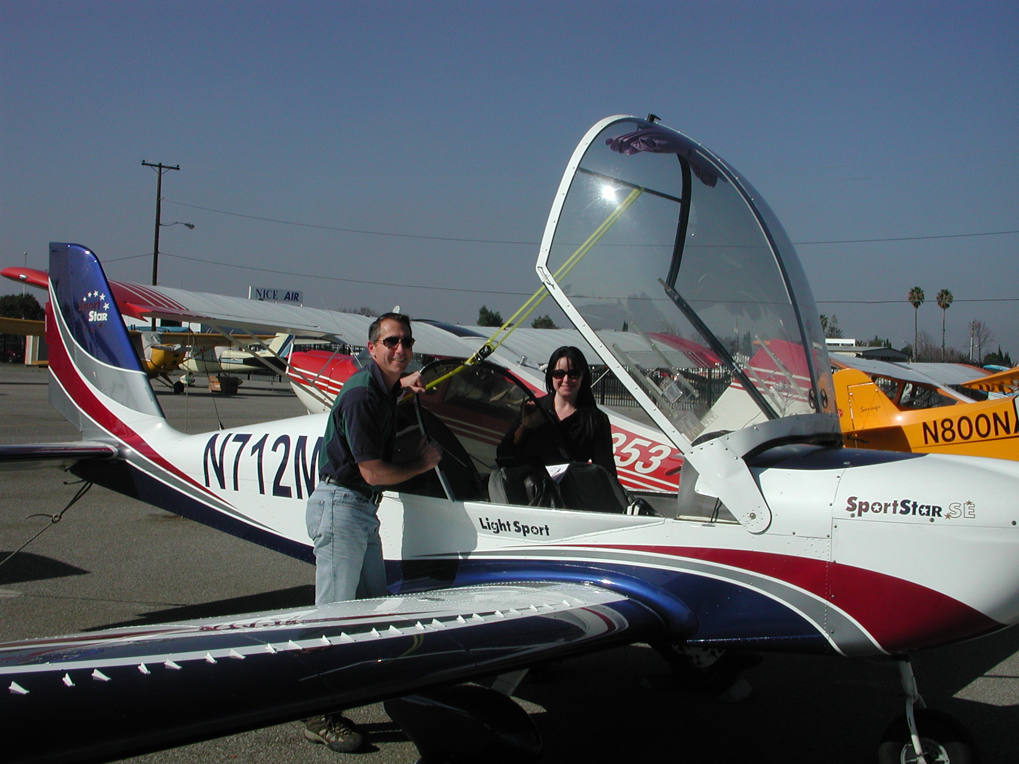 Anny Aubin started her sport pilot training at AeroDynamic Aviation at RHV Airport in San Jose, CA.