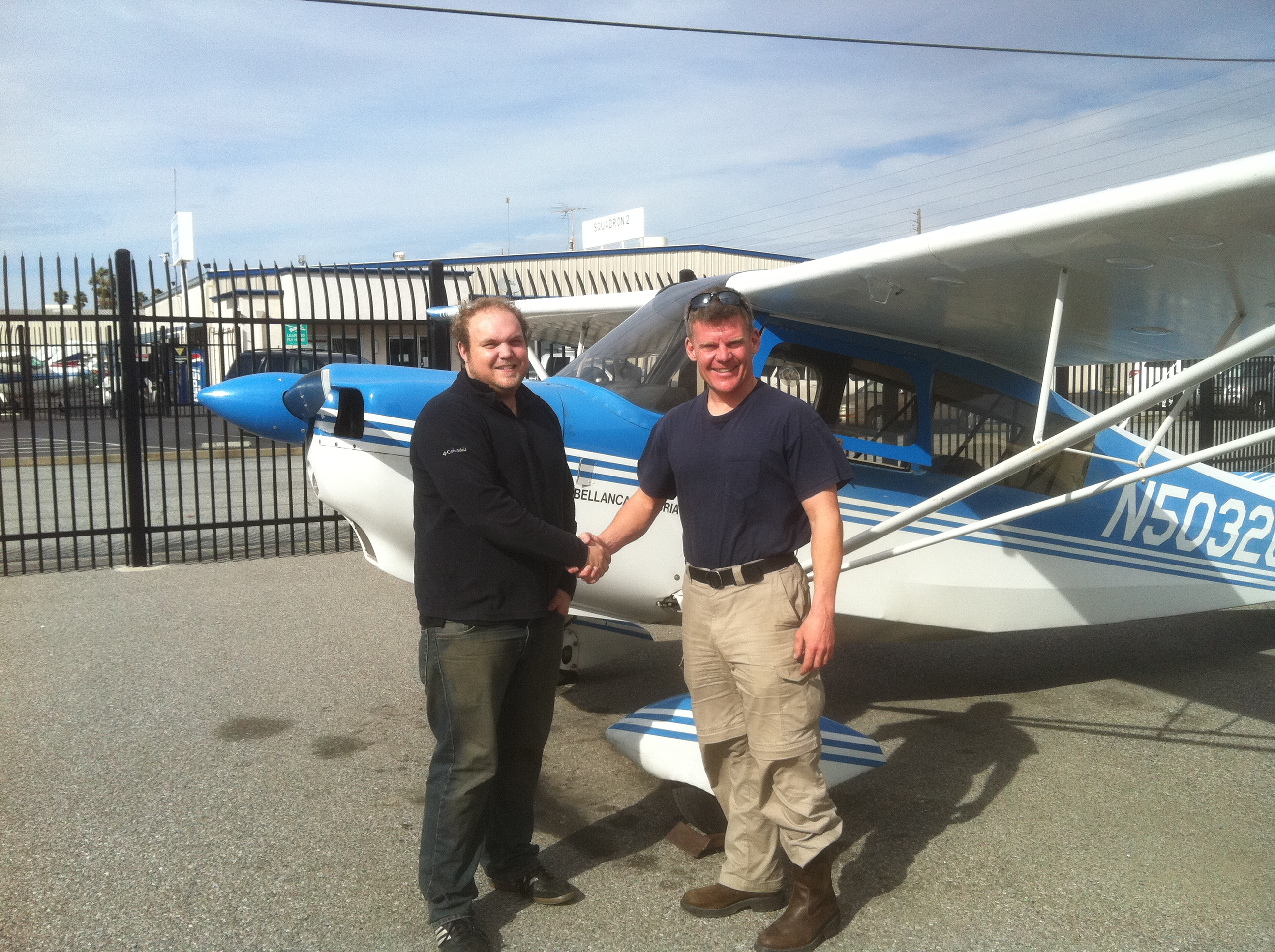 Derek Allen earned his private piot license in Citabria N5032G at AeroDynamic Aviation at Reid Hillview Airport located in San Jose, CA