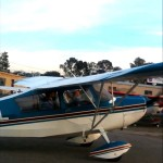 Andrew takes first flying lesson at AeroDynamic Aviation flight training school San Jose