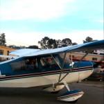 Andrew takes first flying lesson at AeroDynamic Aviation flight training school San Jose