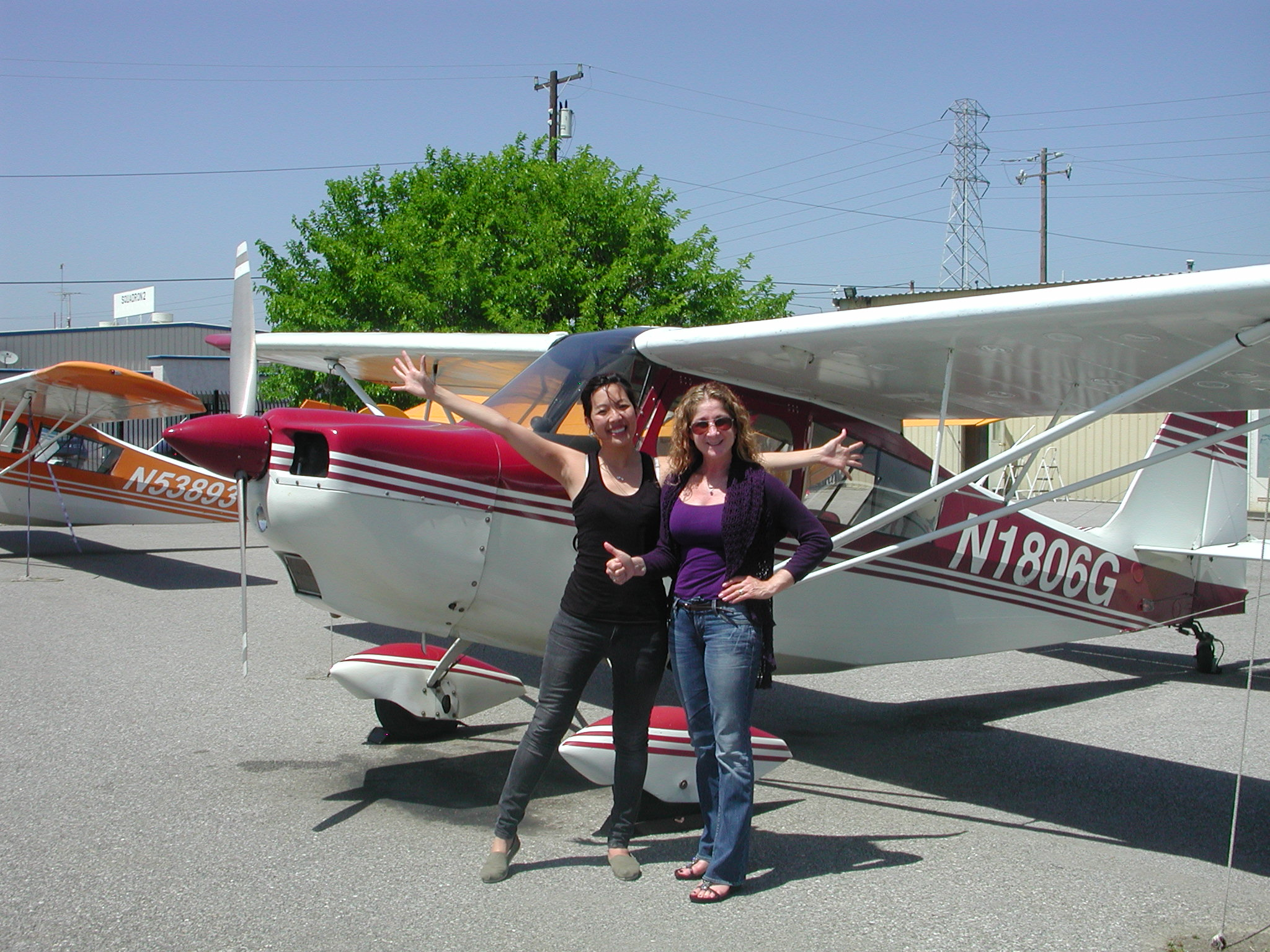 Inga Huang passes private pilot checkride at AeroDynamic Aviation at Reid Hillview Airport in San Jose, CA.