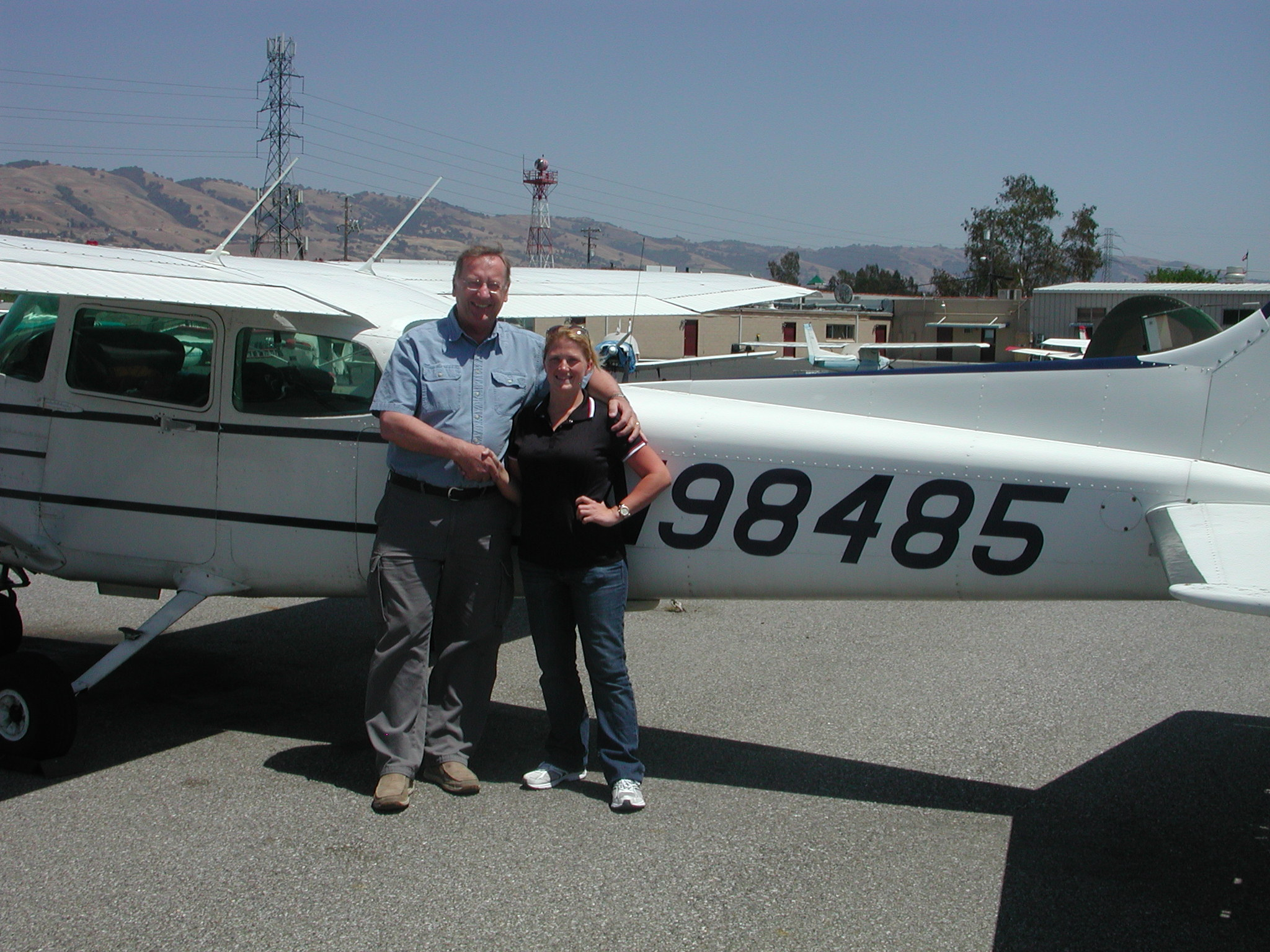 Jen passes CFII checkride at AeroDynamic Aviation located at Reid Hillview Airport in San Jose, CA.