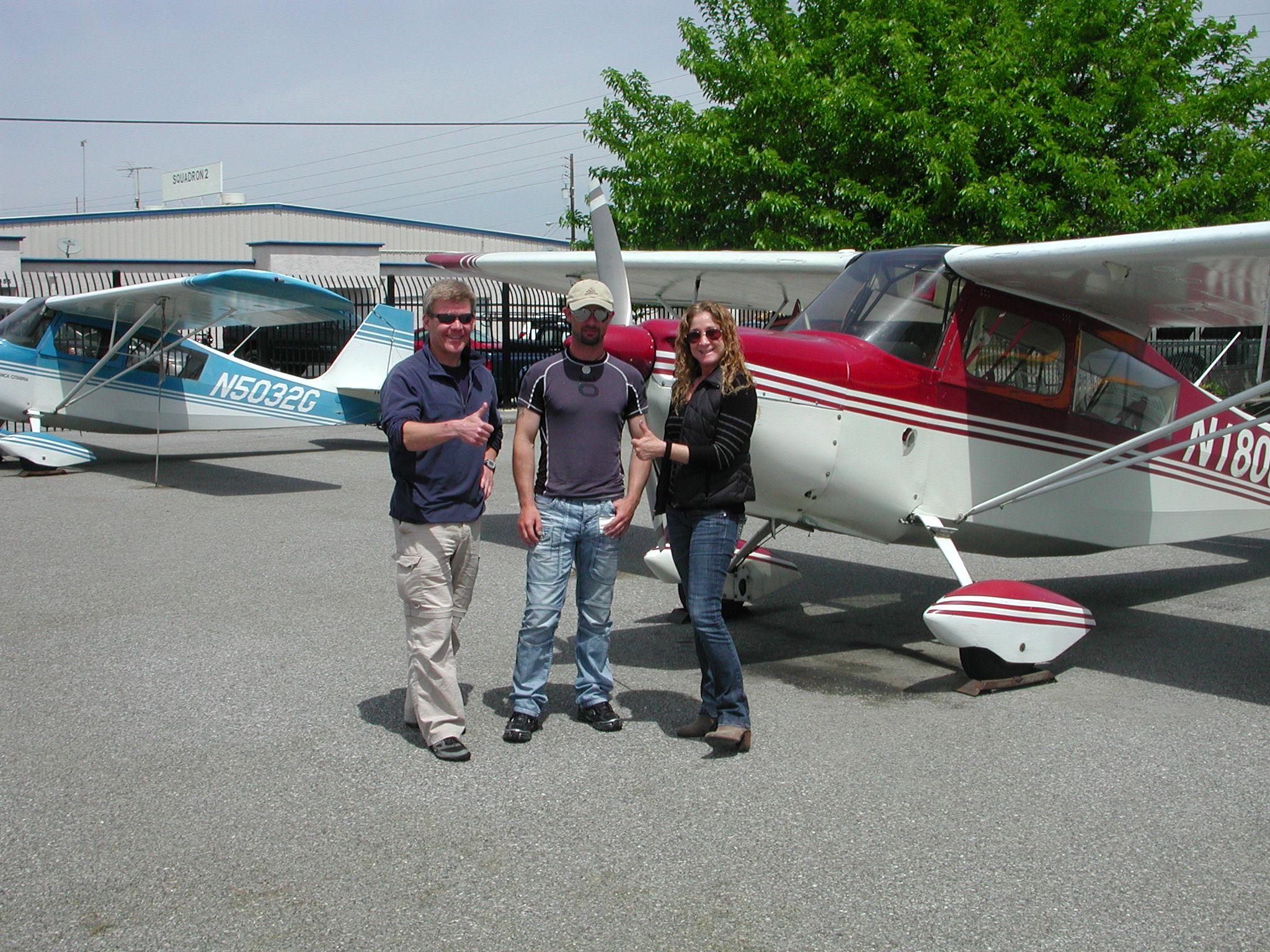 Jordan Merriman passes private pilot checkride at AeroDynamic Aviation at Reid Hillview Airport in San Jose, CA.