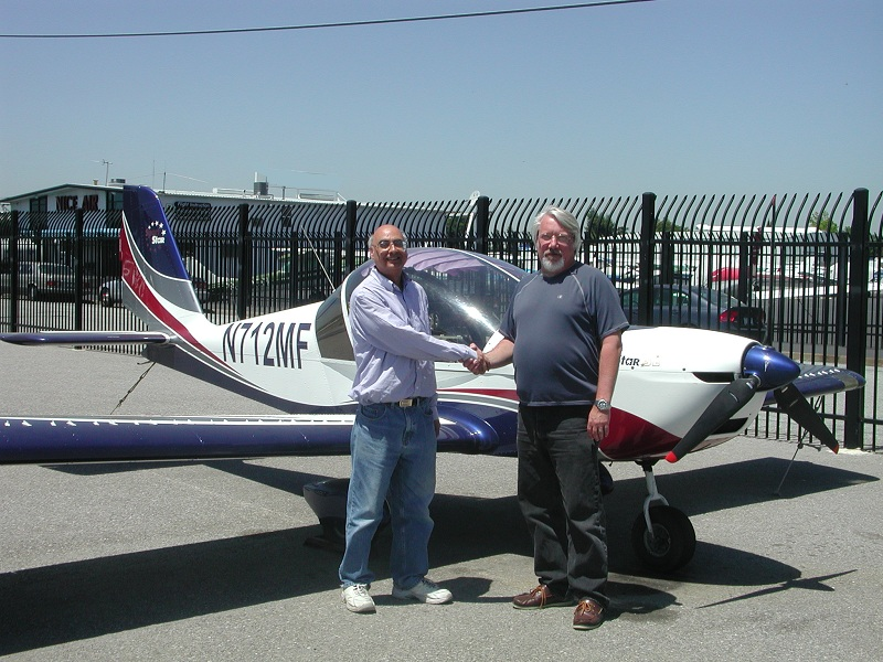 Adnan earns Sport Pilot license in Evektor SportStar Lingt Sport Airplane after flight training at AeroDynamic Aviation San Jose San Francisco Bay Area Californis