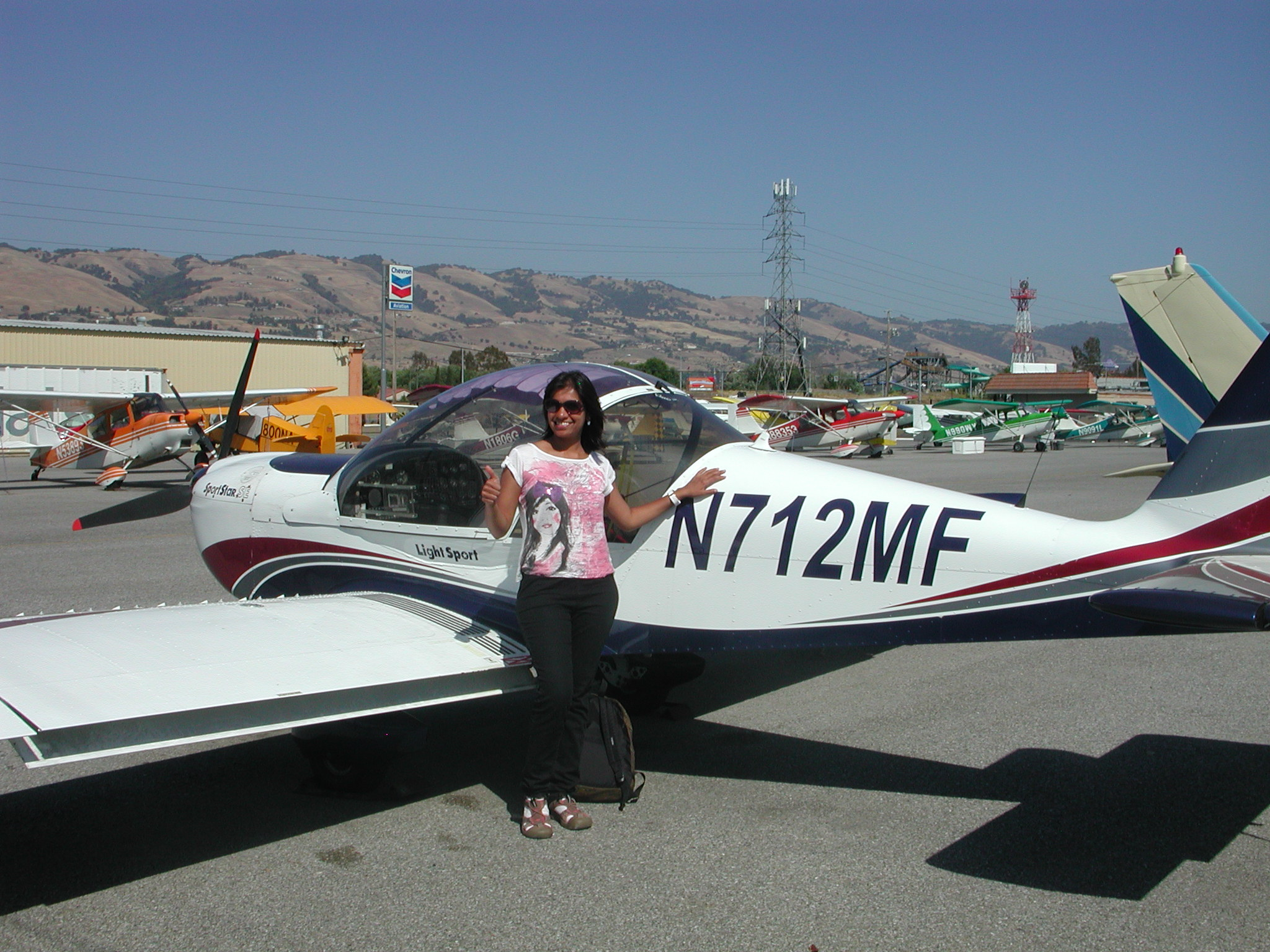 Gargi Shah flies light sport aircraft at AeroDynamic Aviation at Reid Hillview Airport located in San Jose, CA.
