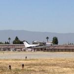 Mike Bourne solo flight in Cessna 54102 at AeroDynamic Aviation flight training school San Jose San Francisco Bay Area California