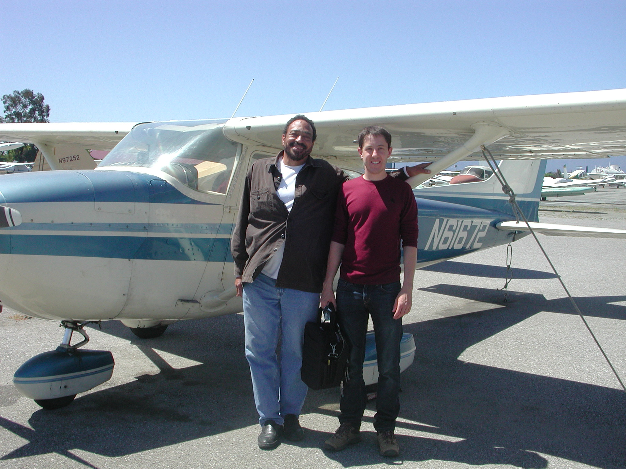 Andrew Snyder soloes Cessna 172 at AeroDynamic Aviation located at Reid Hillview Airport in San Jose, CA.