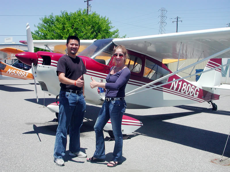 William Lo earns private pilot license after flight training at AeroDynamic Aviation flight school San Jose San Francisco Bay area California