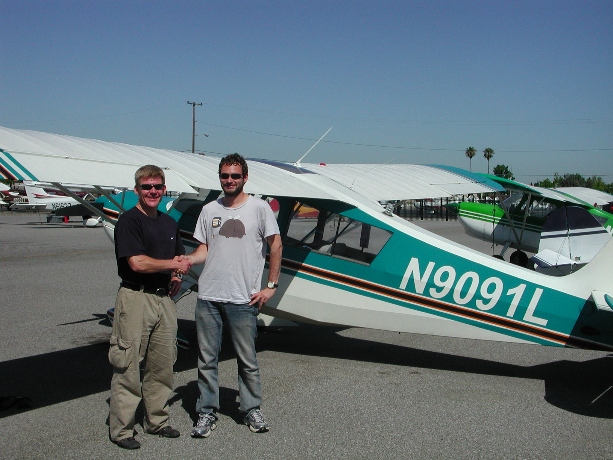 Michael Busch solos Citabria at AeroDynamic Aviation at Reid Hillview Airport located in San Jose, CA.