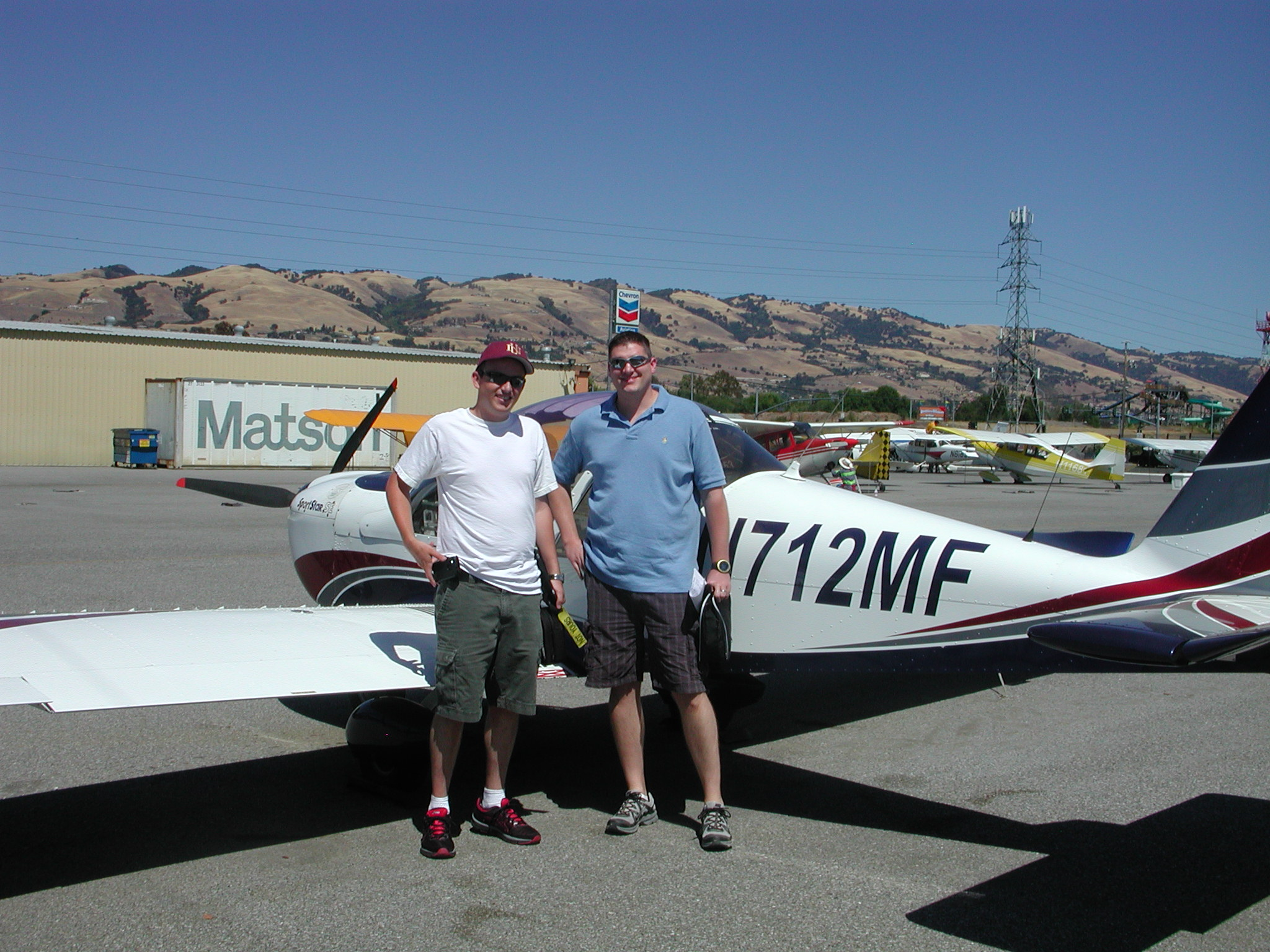 Mike Krueger takes introductory lesson at AeroDynamic Aviation at Reid Hillview Airport located in San Jose, CA.