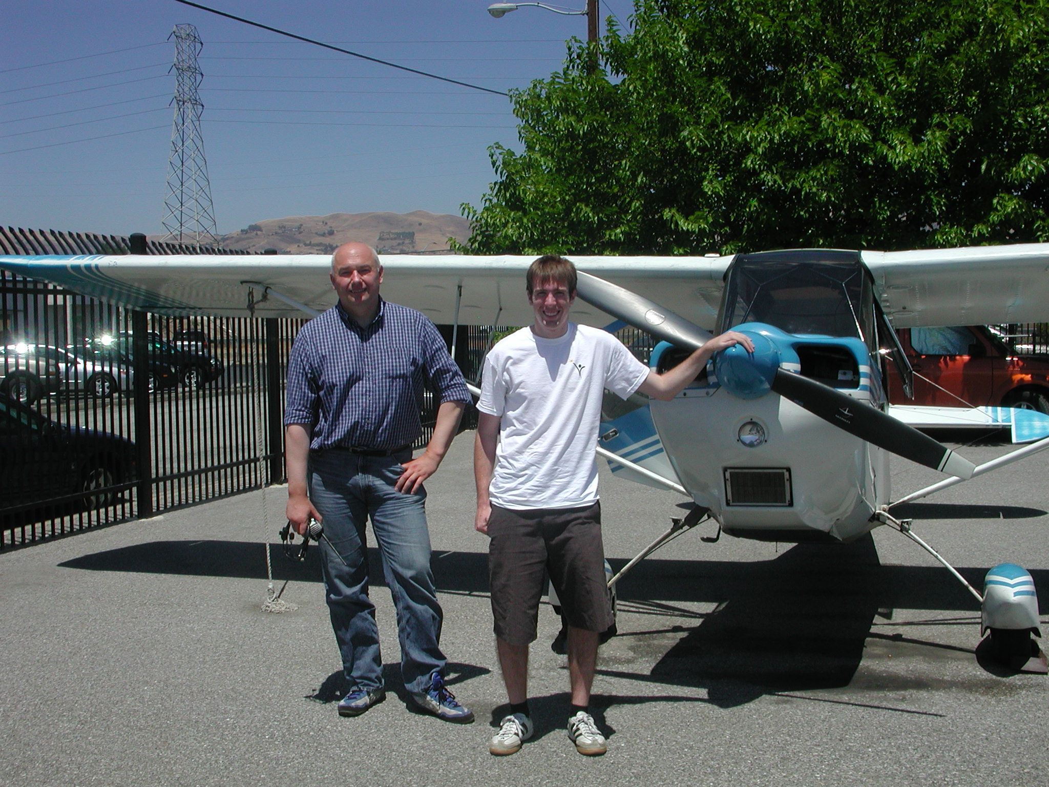 Nick Collison solos Citabria out of AeroDynamic Aviation at Reid Hillview Airport in San Jose, CA.