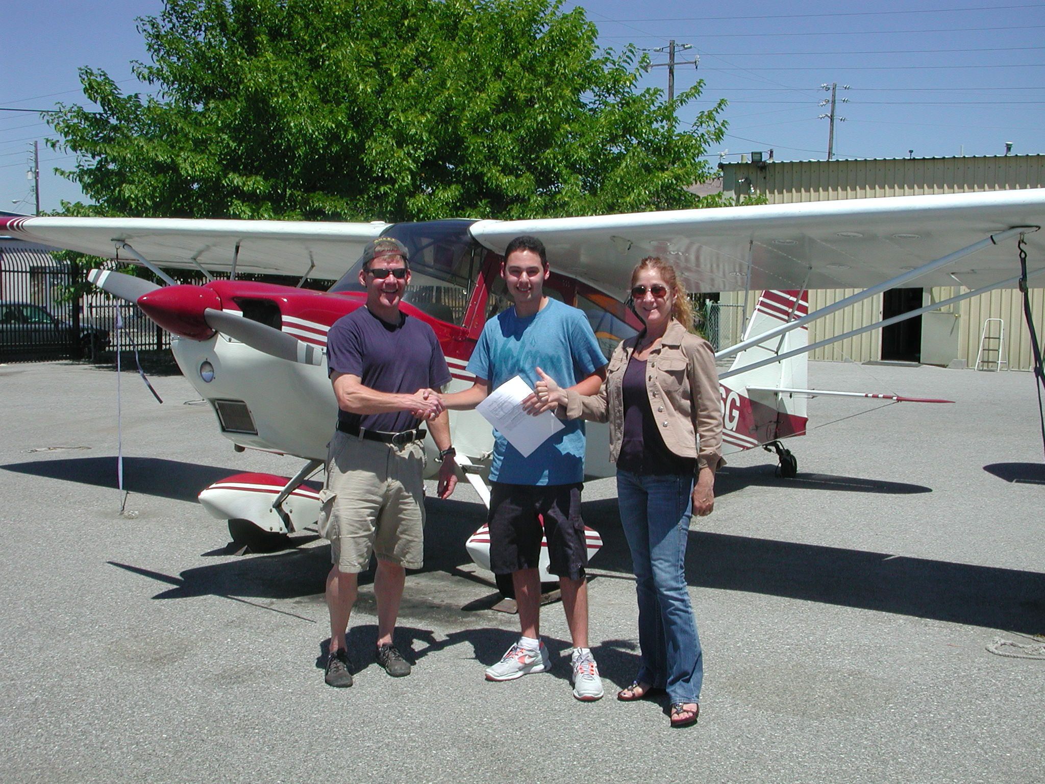 Ahrash Aleshi passes private pilot checkride at AeroDynamic Aviation located at Reid Hillview Airport in San Jose, CA.