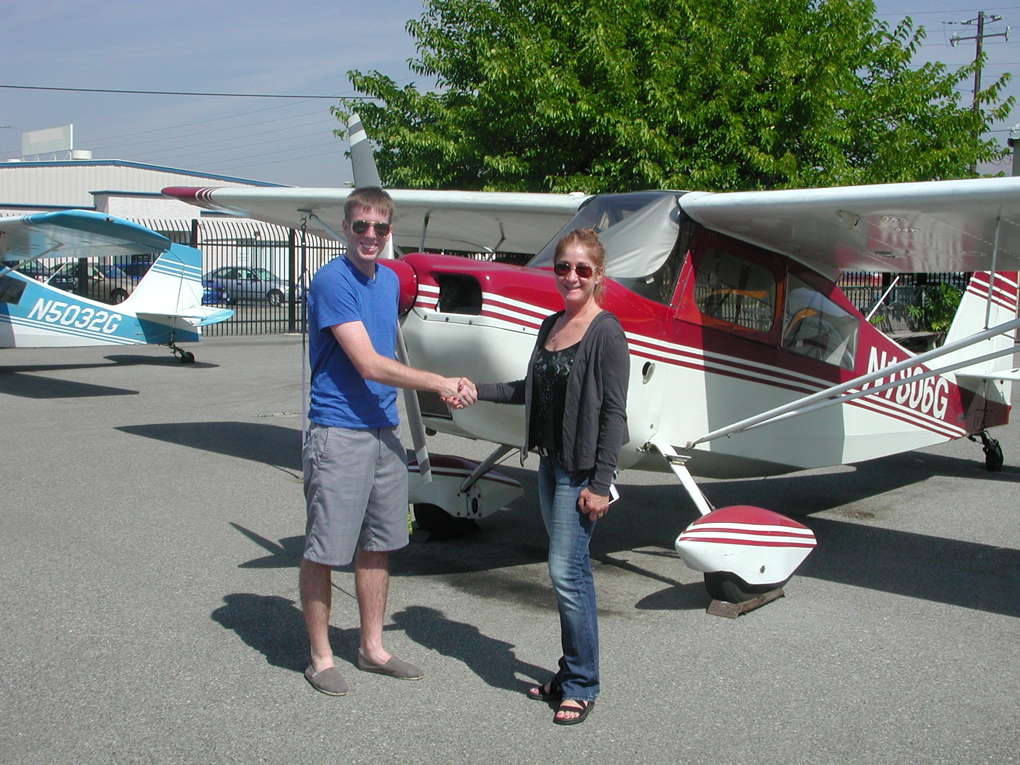Nick Collison passes private pilot checkride at AeroDynamic Aviation located at Reid Hillview Airport in San Jose, CA.
