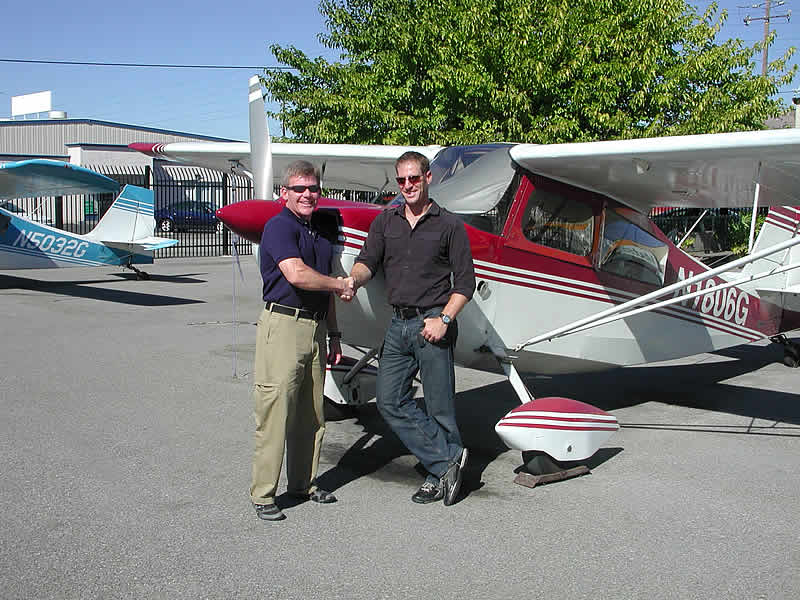 Matt earns PPL after flying lessons at AeroDynamic Aviation flight training school San Jose San Francisco Bay Area California