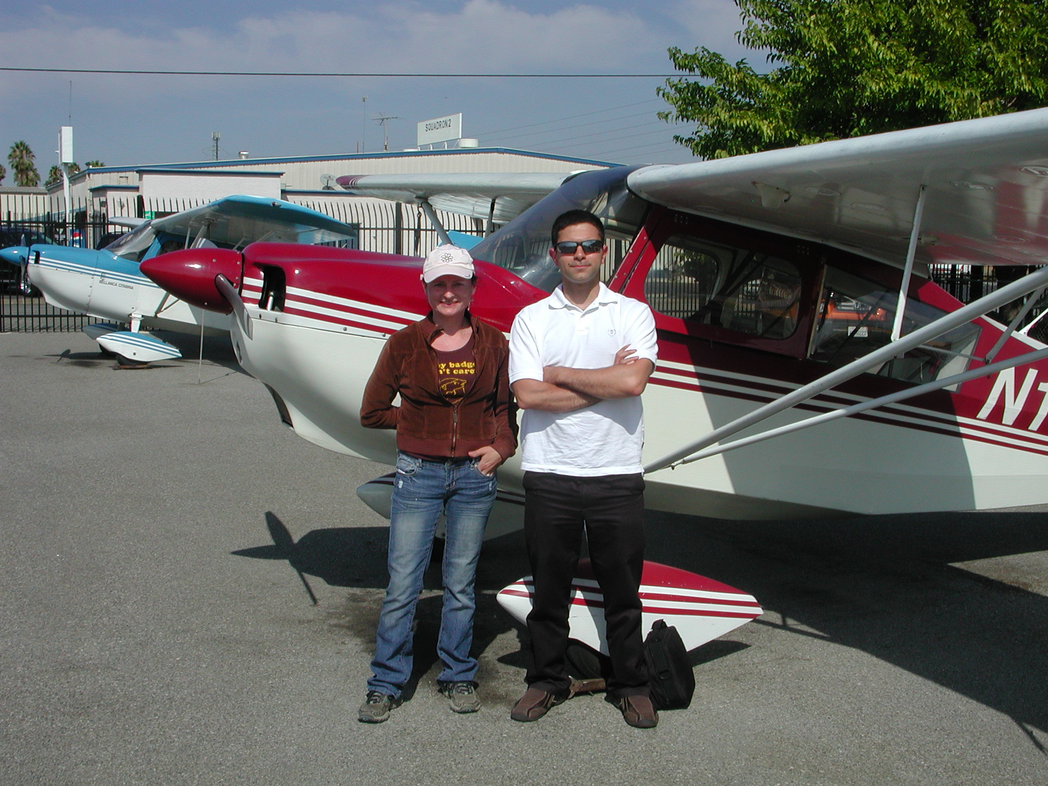 Reza Zadeh goes solo in Citabria at AeroDynamic Aviation located at Reid Hillview Airport in San Jose, CA.