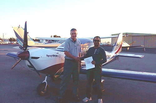 Raj passes Private Pilot test