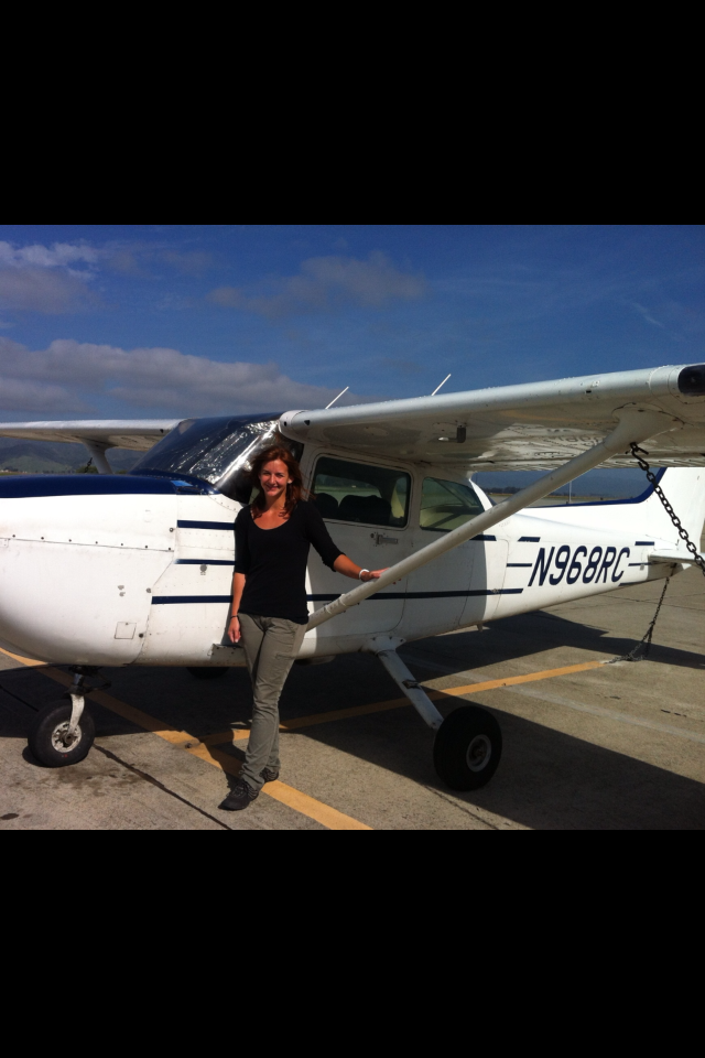 Serena Whelchel after her successful checkride!